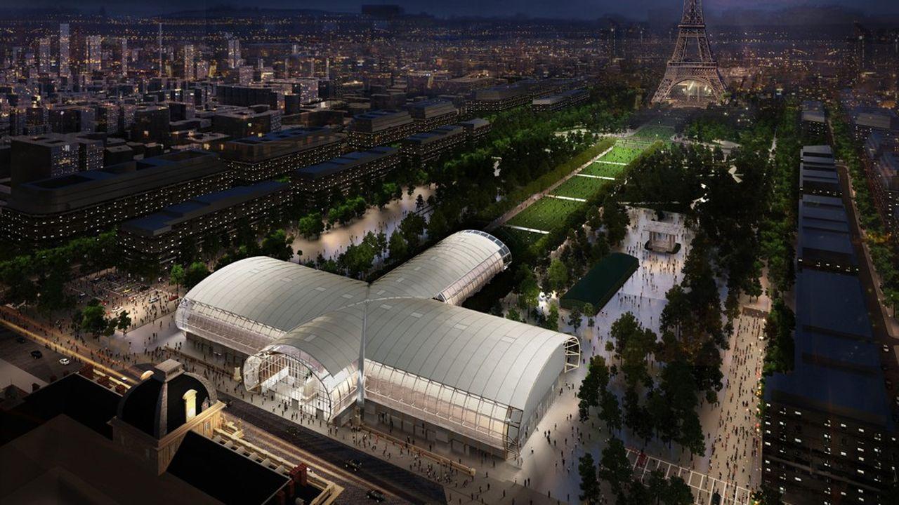 Le bâtiment éphémère doit accueillir, de 2021 à 2024, les grands événements organisés auparavant dans la nef du Grand Palais.