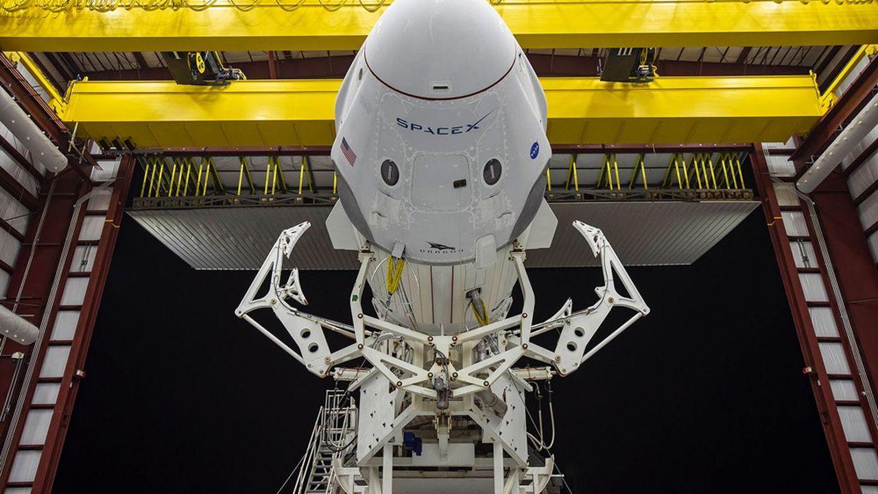 La capsule Crew Dragon montée sur Falcon 9 a emmené dans l'espace ses premiers astronautes au départ de cap Canaveral le 12mai dernier.