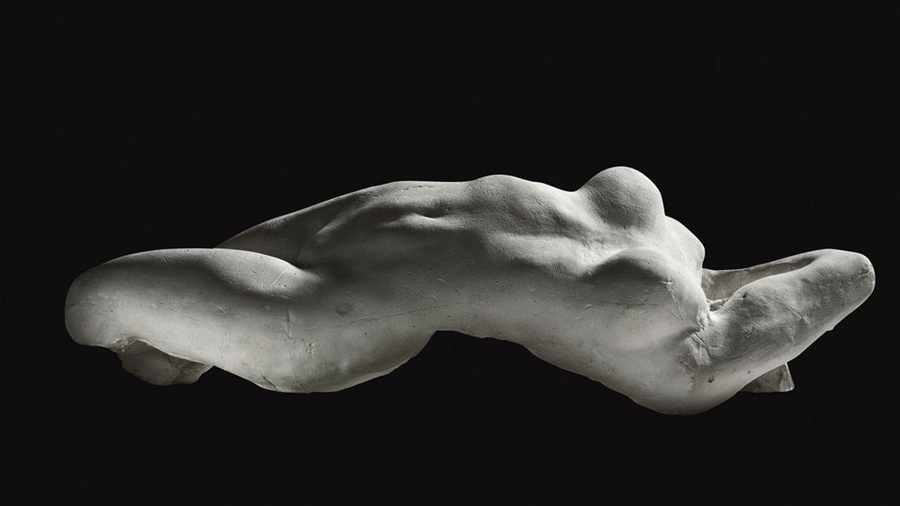 «Le Torse d'Adèle», sculpté par Auguste Rodin (1882). Plâtre, moulage d'essai.