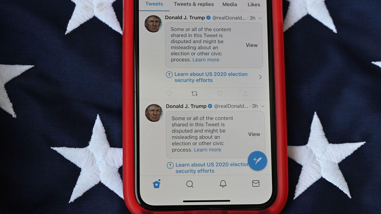 Plusieurs tweets de Donald Trump ont été retirés de la plateforme «à cause d'un risque de violence».