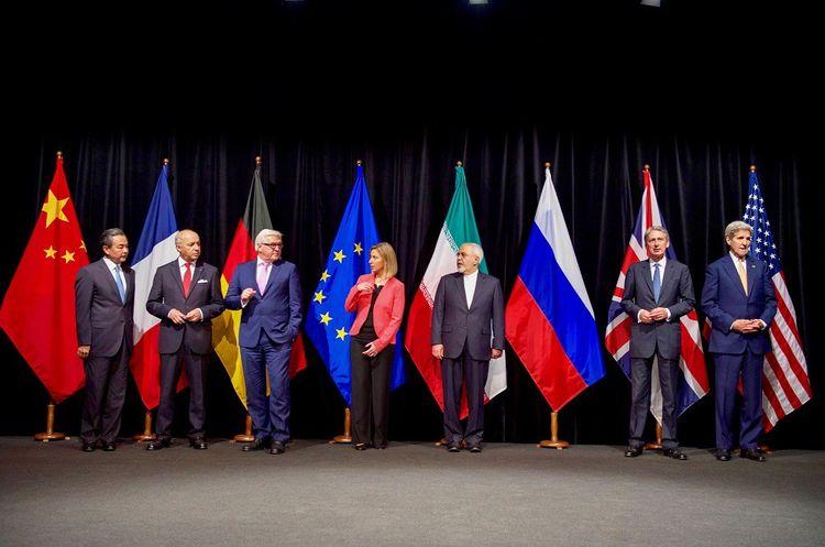 Les signataires de l'accord de Vienne, le 14juillet 2015.