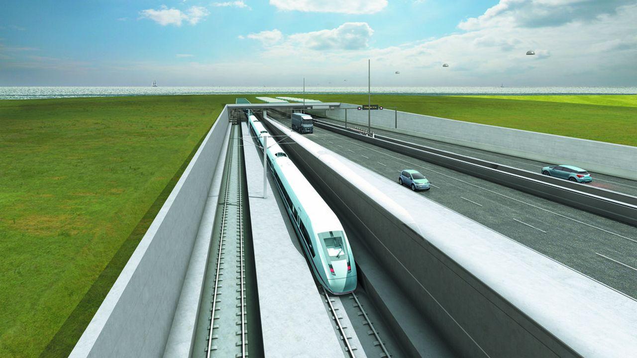 Ce projet danois de 7,4milliards d'euros avait été approuvé par les deux pays en 2008 mais n'a obtenu ses autorisations qu'à l'automne dernier.