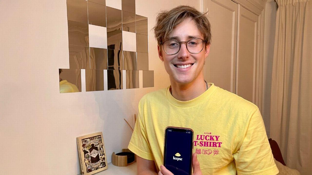 Mathieu Golan, 28 ans, cofondateur de l'application Leepse.