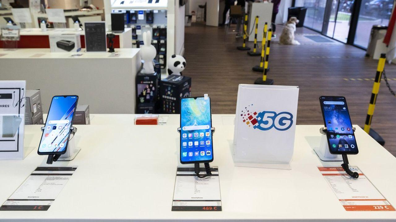 Les smartphones 5G ont fait leur apparition en boutique en 2020