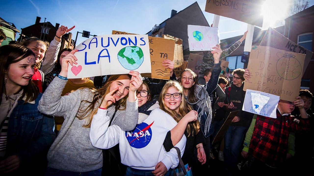 Marche pour le climat, février 2019 en Belgique.