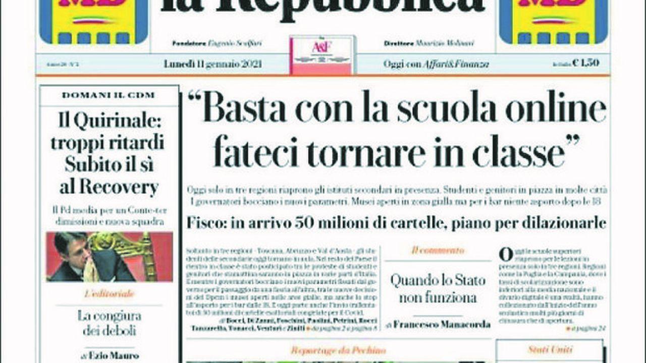 La révolte en Italie gronde contre l'enseignement à distance.