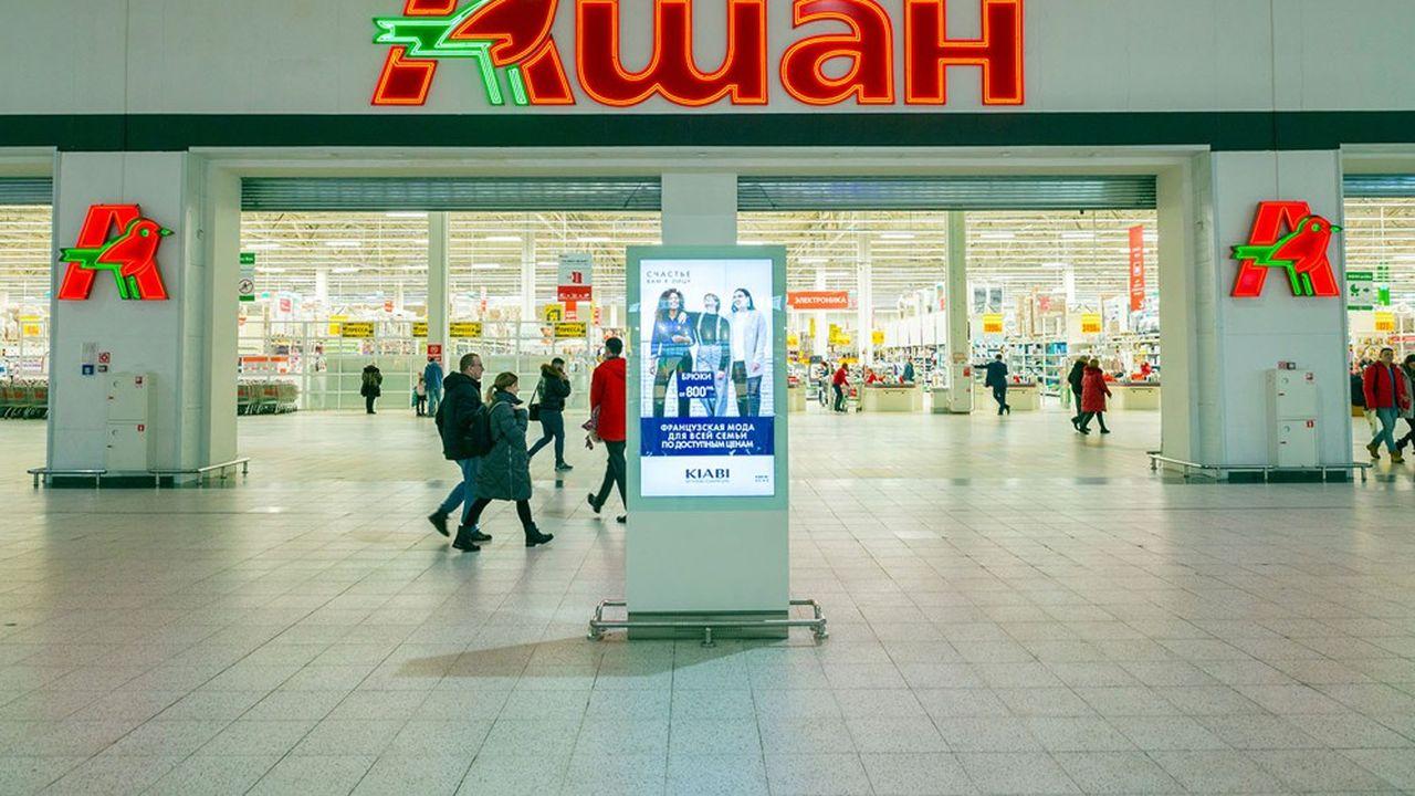 Auchan compte 269magasins en Russie, essentiellement des hypermarchés, quand le commerce de proximité et l'e-commerce se développent fortement.