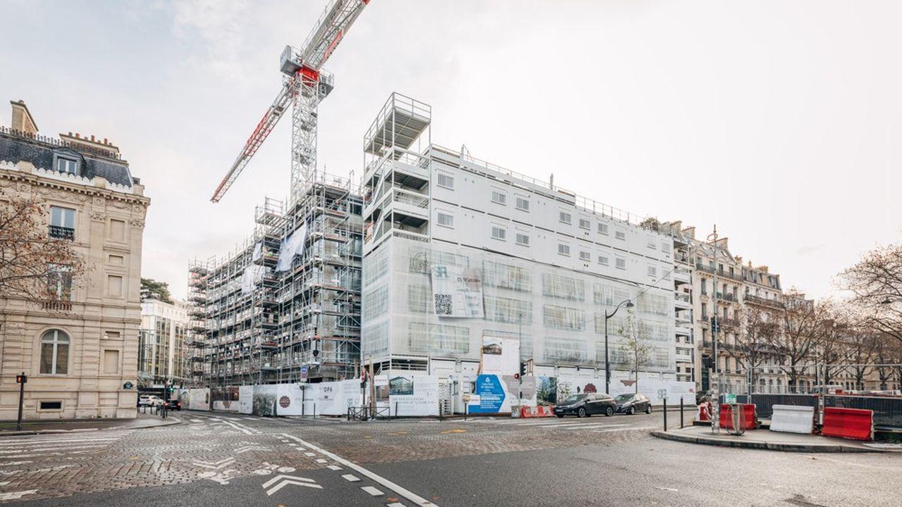 Les futurs locaux de Goldman Sachs avenue d'Iena à Paris.