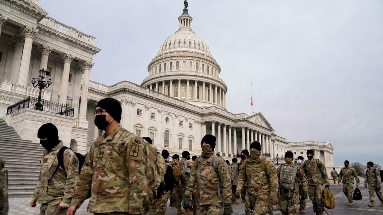 La Garde nationale a été dépêchée pour assurer la sécurité, après les événements de mercredi au Capitole.