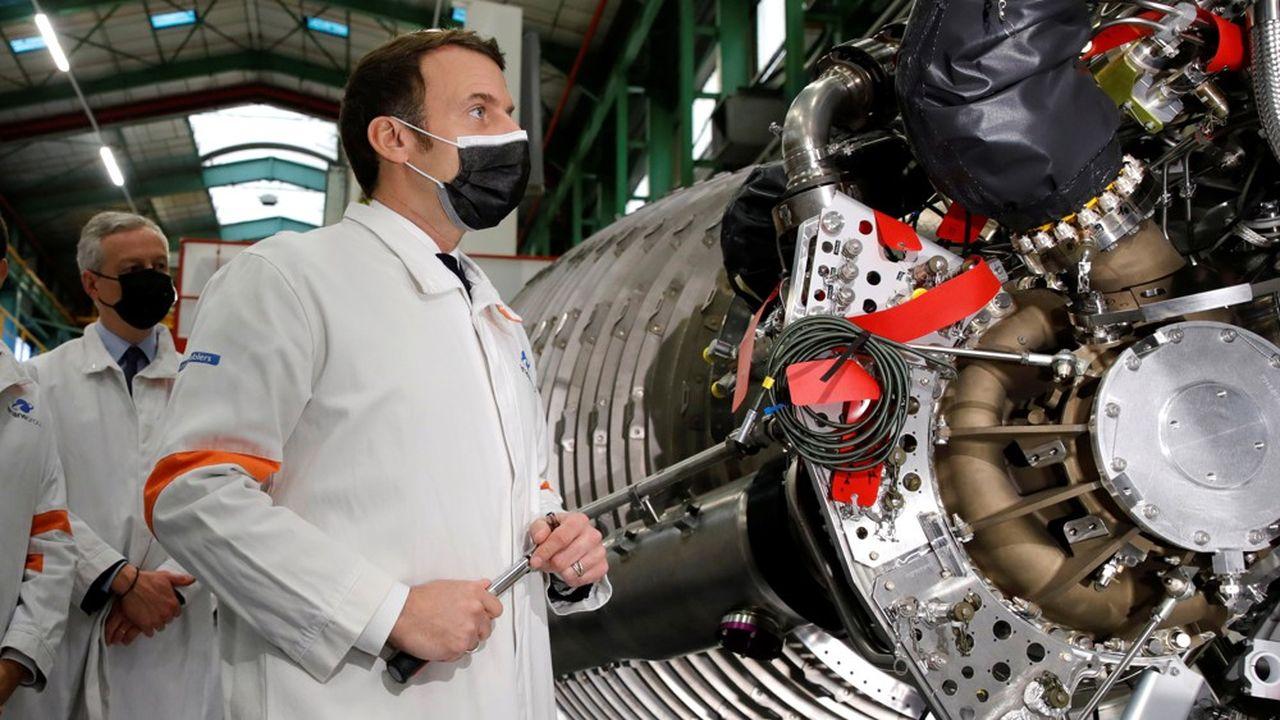 Le président Emmanuel Macron s'est rendu à Vernon chez ArianeGroup pour annoncer son soutien au secteur spatial