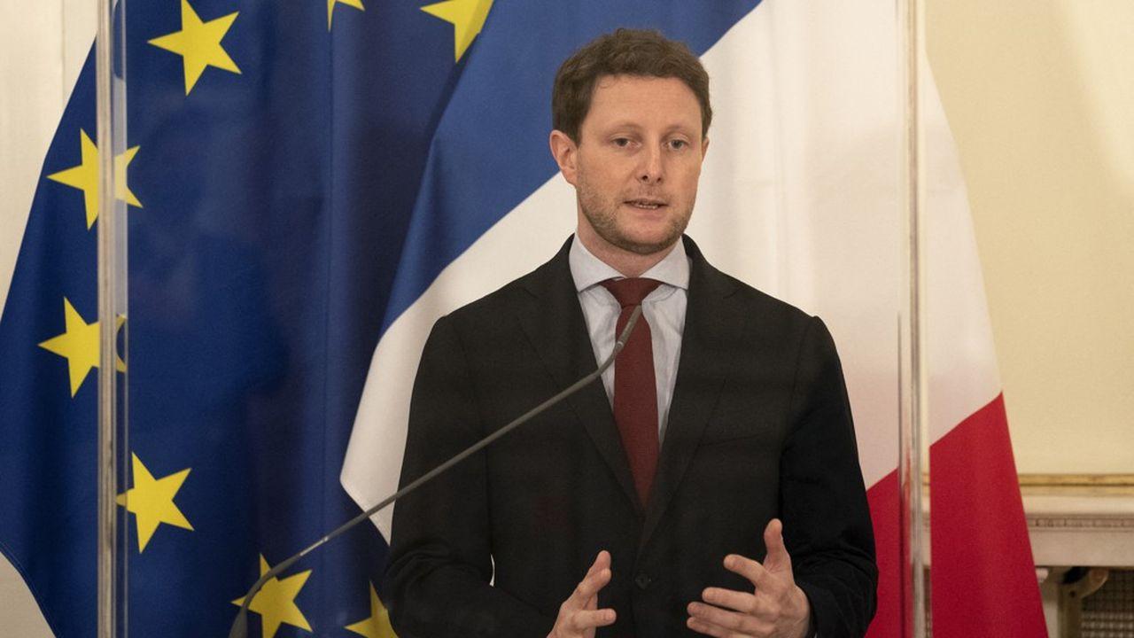 Le secrétaire d'Etat aux Affaires européennes, Clément Beaune, lors de son déplacement à Bruxelles, mardi.
