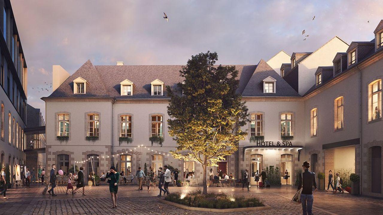 Le plus emblématique des projets est celui prévu dans le centre historique de Rennes, dans un bâtiment classé du XVIIIesiècle.