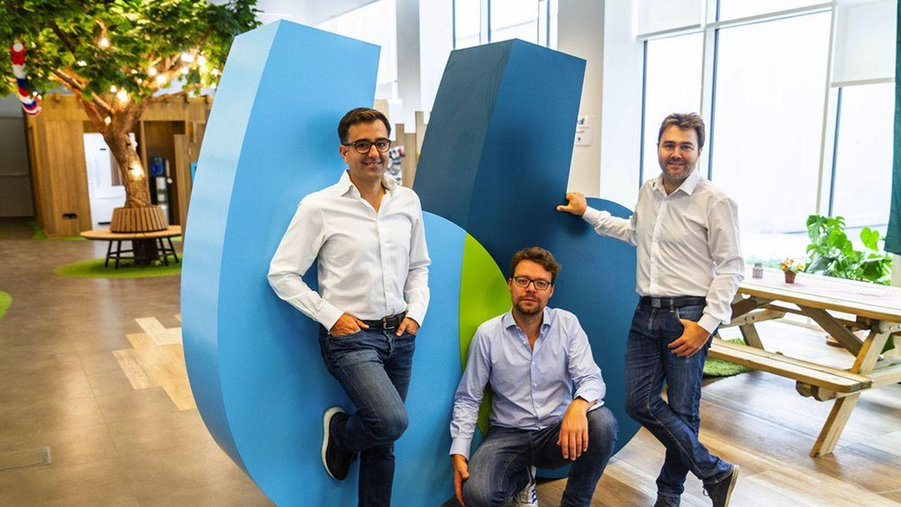 En acculturant très tôt leurs employés à l'entrepreneuriat, les troisfondateurs de BlaBlaCar (de gauche à droite, Nicolas Brusson, Francis Nappez et Frédéric Mazzella) ont permis à une trentaine d'entre eux de lancer leurs start-up.