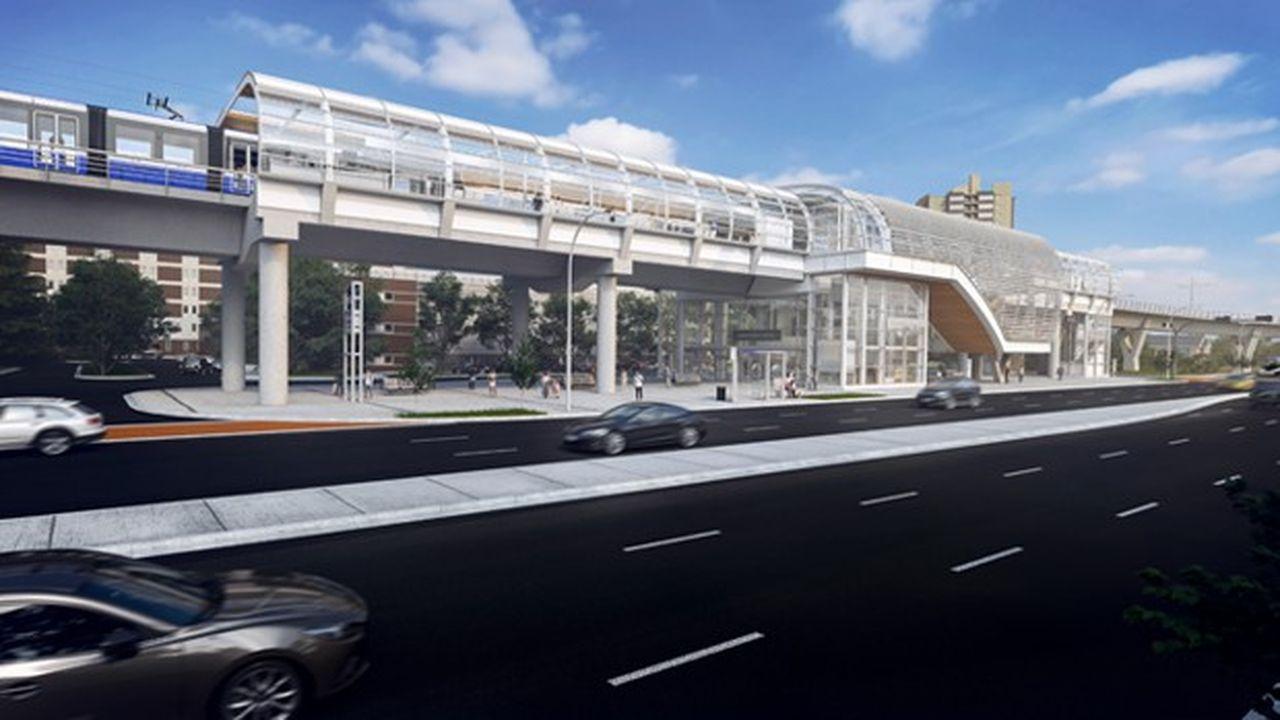 Le projet porte sur 14 kilomètres de ligne de métro léger dont 2,1km de voies surélevées, deux stations aériennes et 14 nouvelles stations.