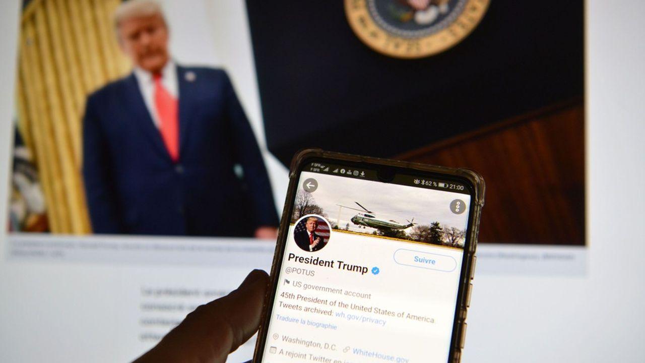 Twitter a bloqué le compte personnel de Donald Trump. Ici le compte officiel du président des Etats-Unis.