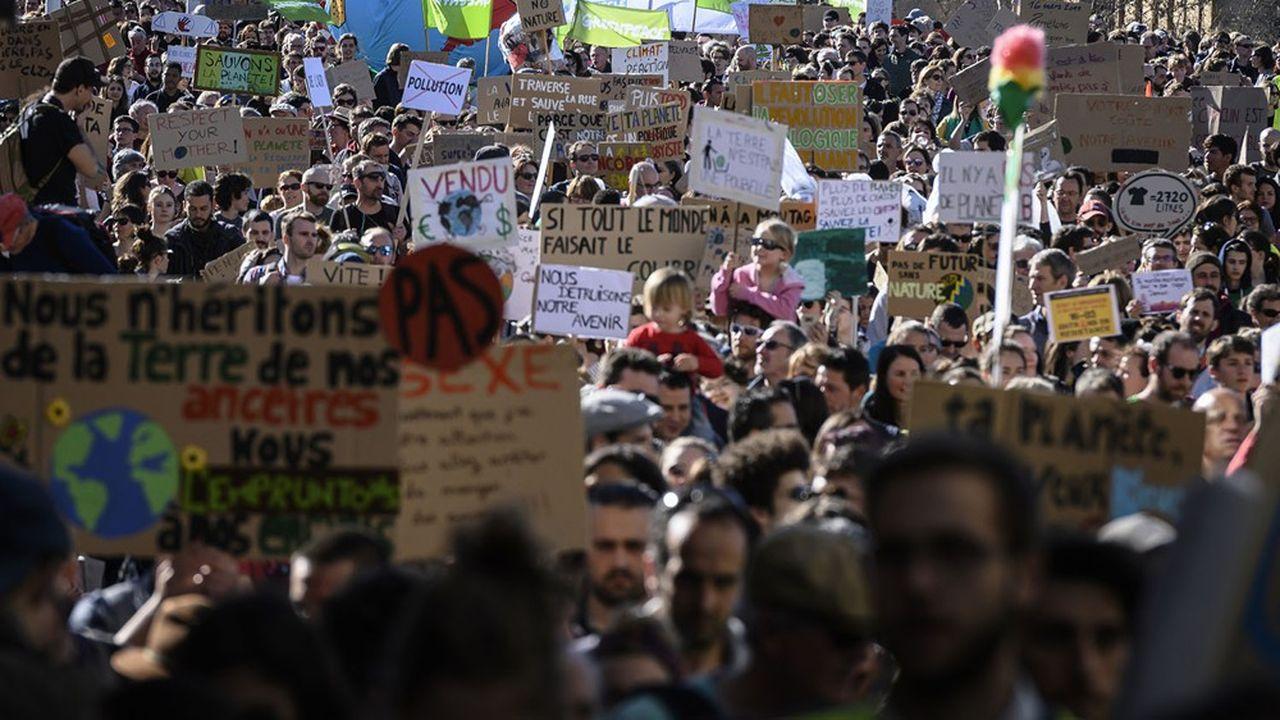 «Marche du Siècle» pour le climat, à Lyon, en mars2019.