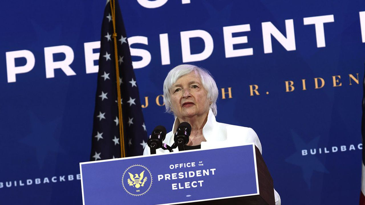 Janet Yellen, la secrétaire au Trésor de Joe Biden, ancienne présidente de la banque centrale américaine entre2014 et2018, a reçu 7,3millions de dollars de la part de Wall Street et des groupes cotés depuis deux ans pour sa participation à des réunions privées