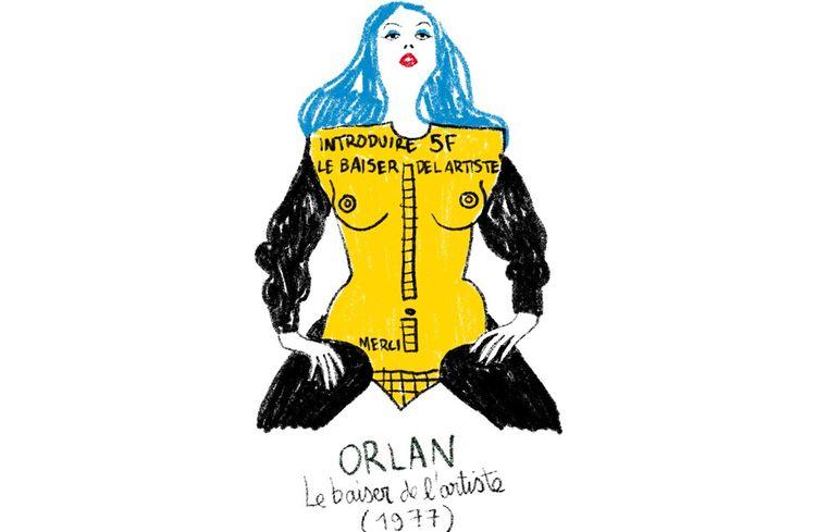 La performance de l'artiste Orlan à la Fiac de 1977 dessinée par Pénélope Bagieu.