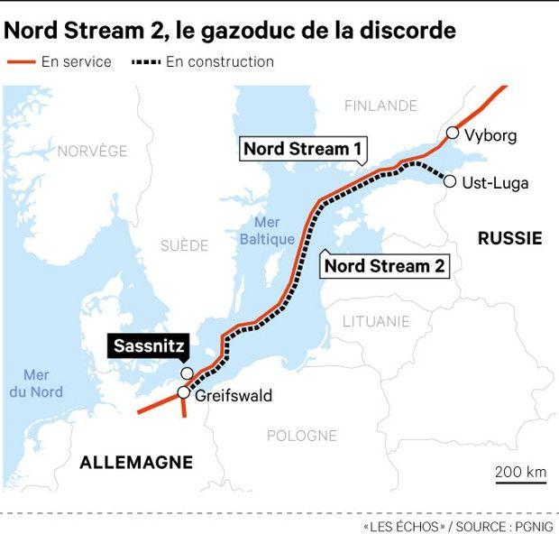 L'achèvement de ce chantier de 2.300 kilomètres de tuyaux sous-marins, devant relier les côtes russes aux côtes allemandes, n'a rien d'assuré.