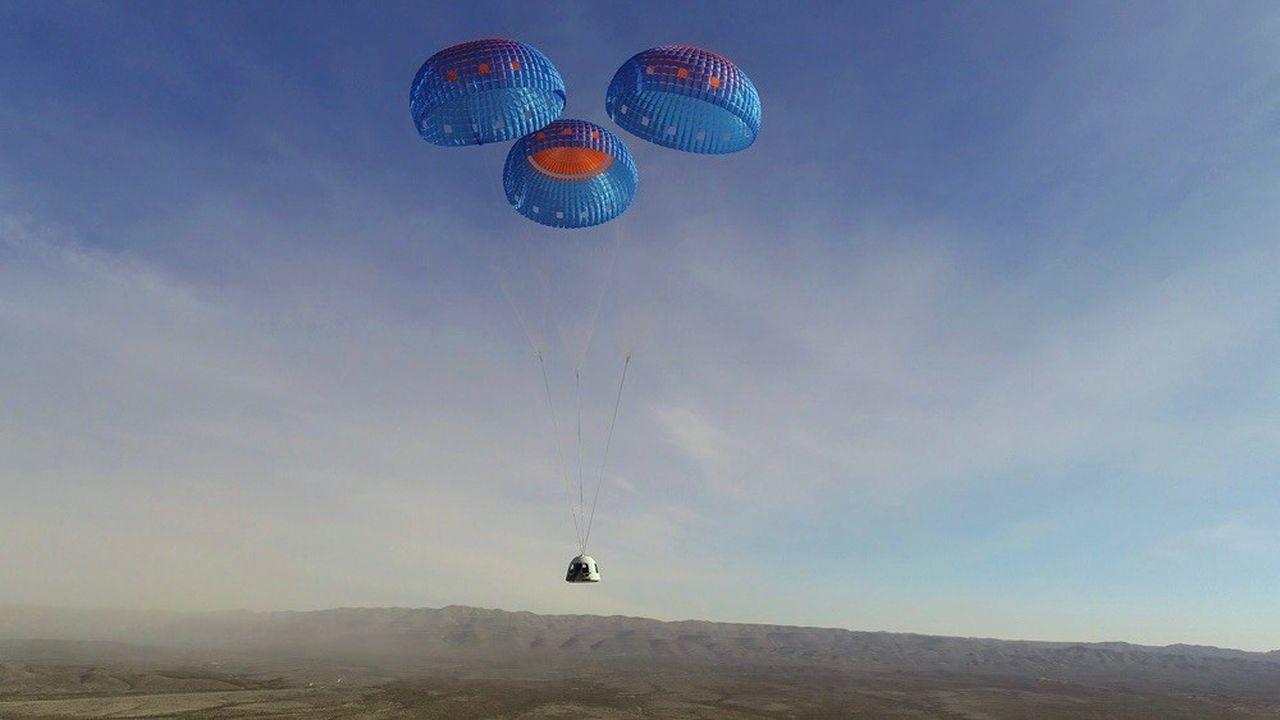 La capsule New Shepard est revenue sur Terre un peu moins de 11 minutes après son lancement.