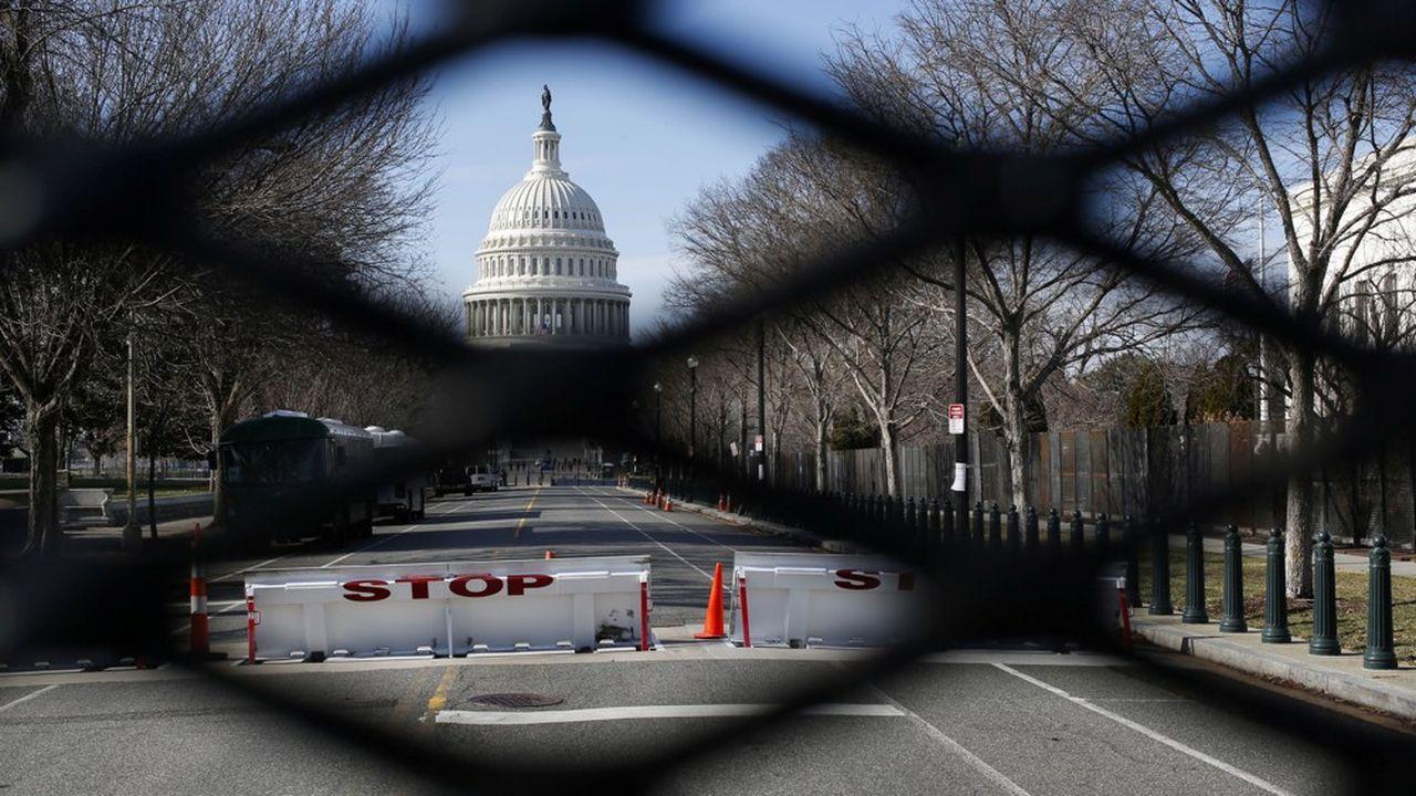 Le Capitol se barricade avant l'intronisation de Joe Biden's mercredi.