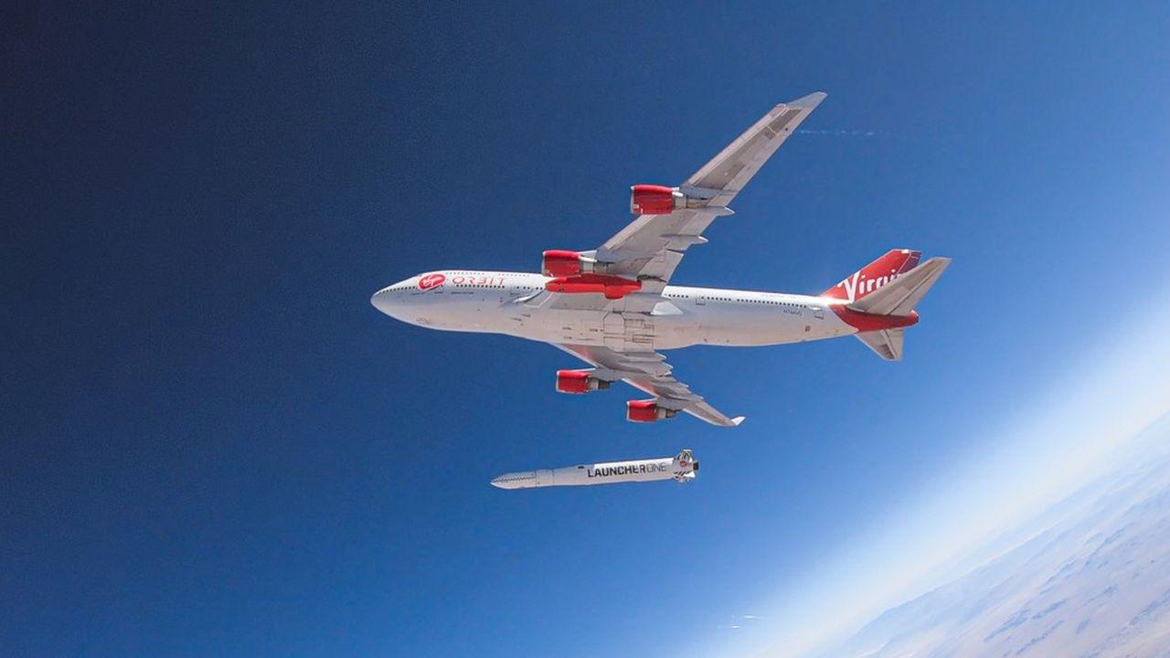 Le Launcher One est largué en vol depuis un Boeing 747.