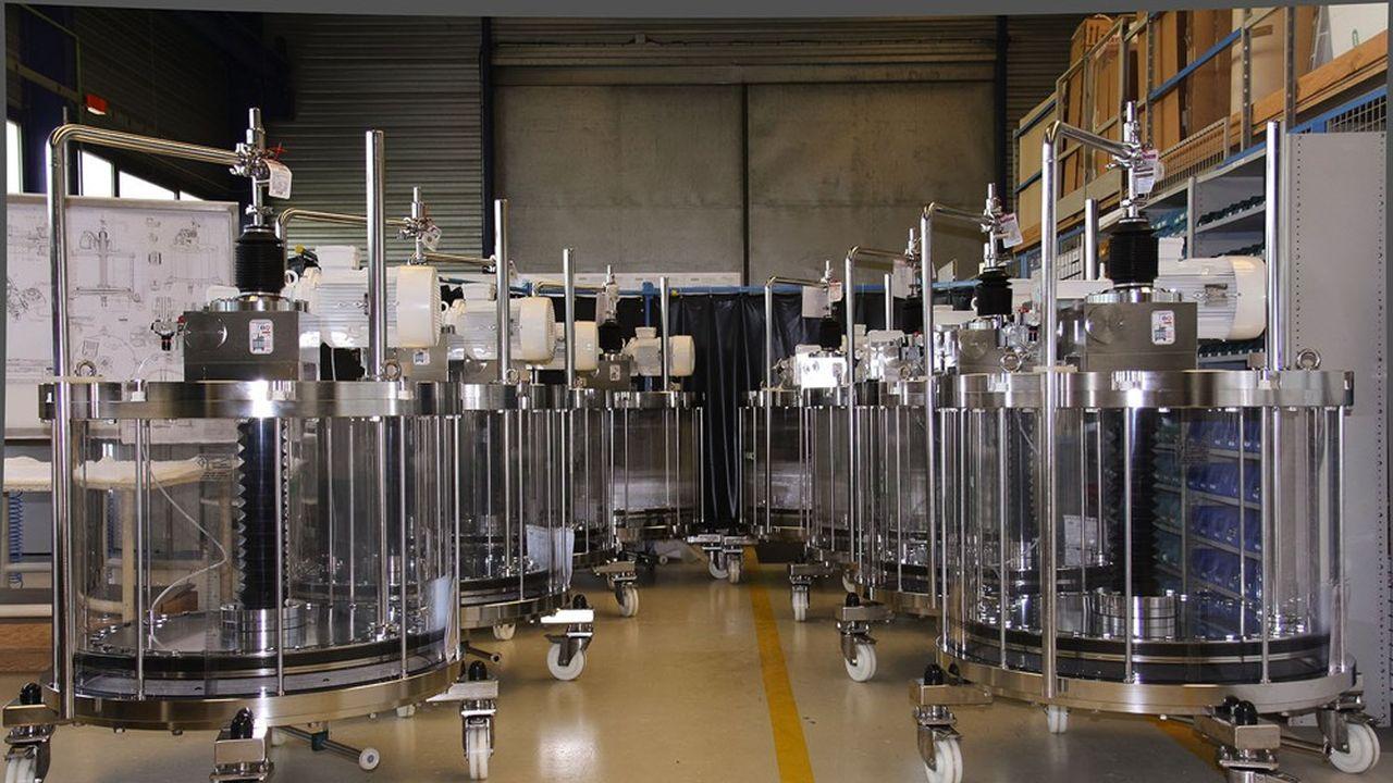 Colonnes de chromatographie issues des lignes de production de Verdot IPS².