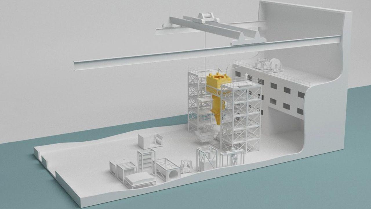Modélisation en 3D du futur démonstrateur de démantèlement d'EDF à Chinon.