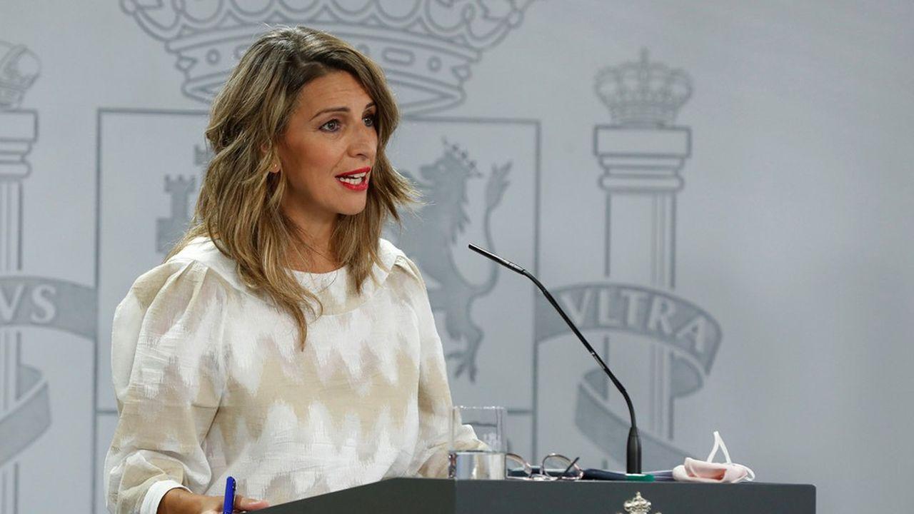 La ministre du Travail espagnole, Yolanda Díaz.