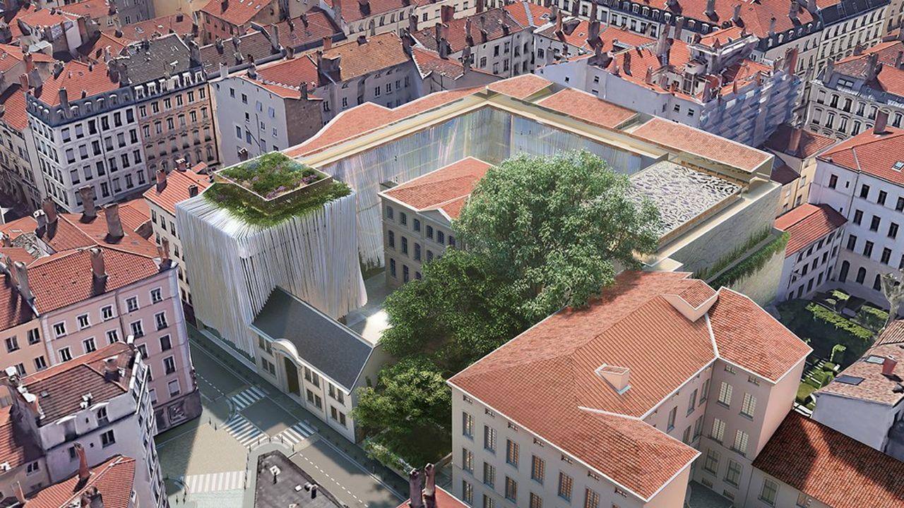Le projet de Rudy Ricciotti, préserve le patrimoine existant, l'hôtel de Lacroix-Laval et l'hôtel de Villeroy, tout en ajoutant une note caractéristique de son savoir-faire : un drapé en écharpe enveloppant les bâtiments.