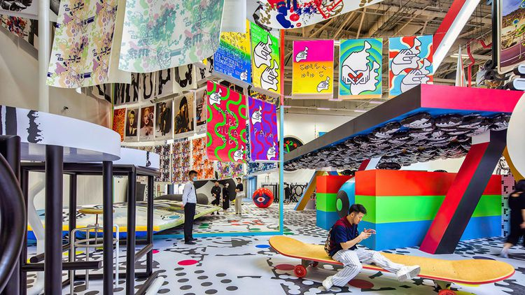 Vue de l'exposition, « M/M Made in Shanghai », présentée actuellement à la Power Station of Art de Shanghai.