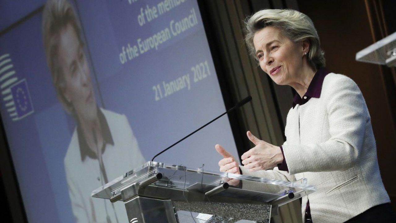 La présidente de la Commission européenne, Ursula von der Leyen, a présenté le résultat des discussions jeudi soir.