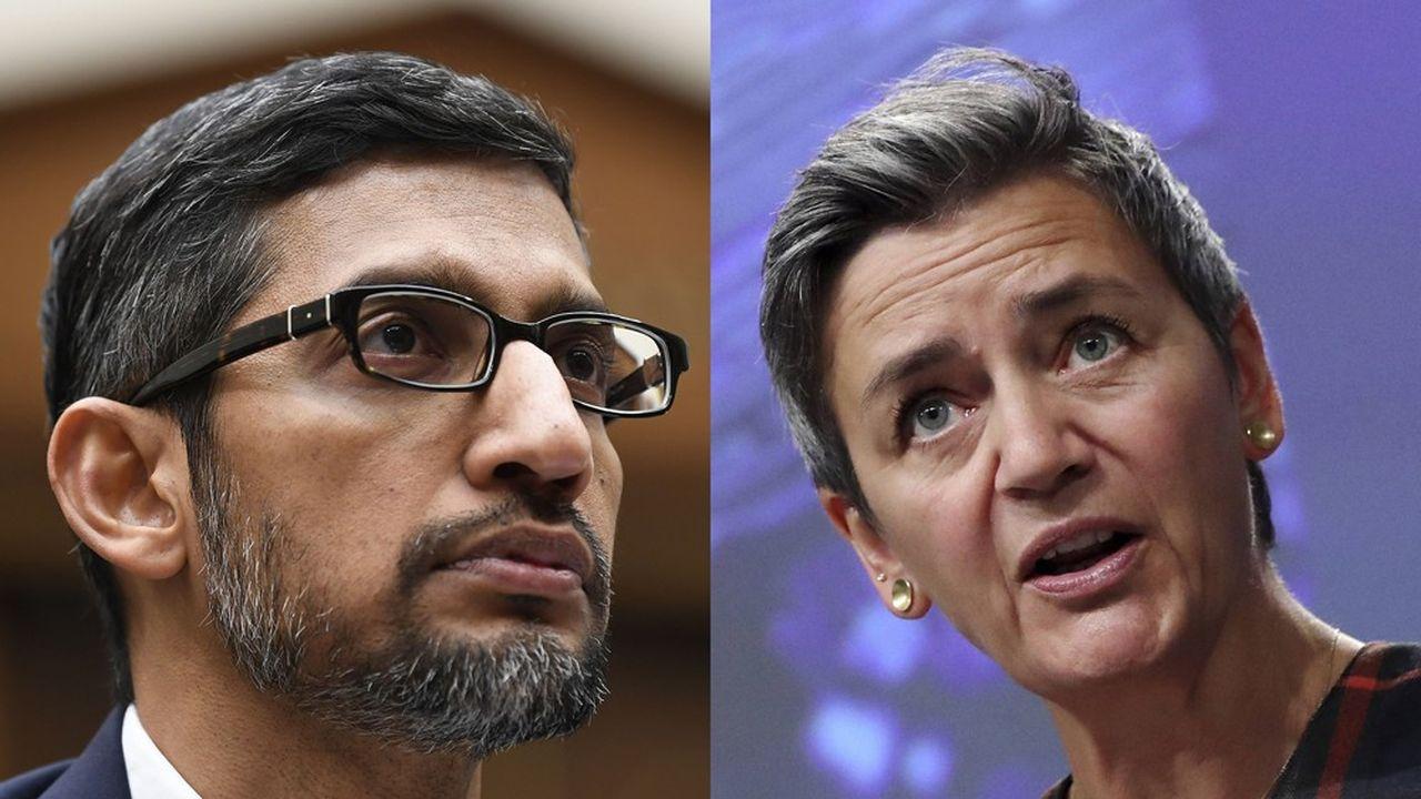 Un entretien téléphonique était prévu lundi entre Sundar Pichai, le PDG de Google, et Margrethe Vestager, vice-présidente de la Commission européenne, chargé de la concurrence et du digital.