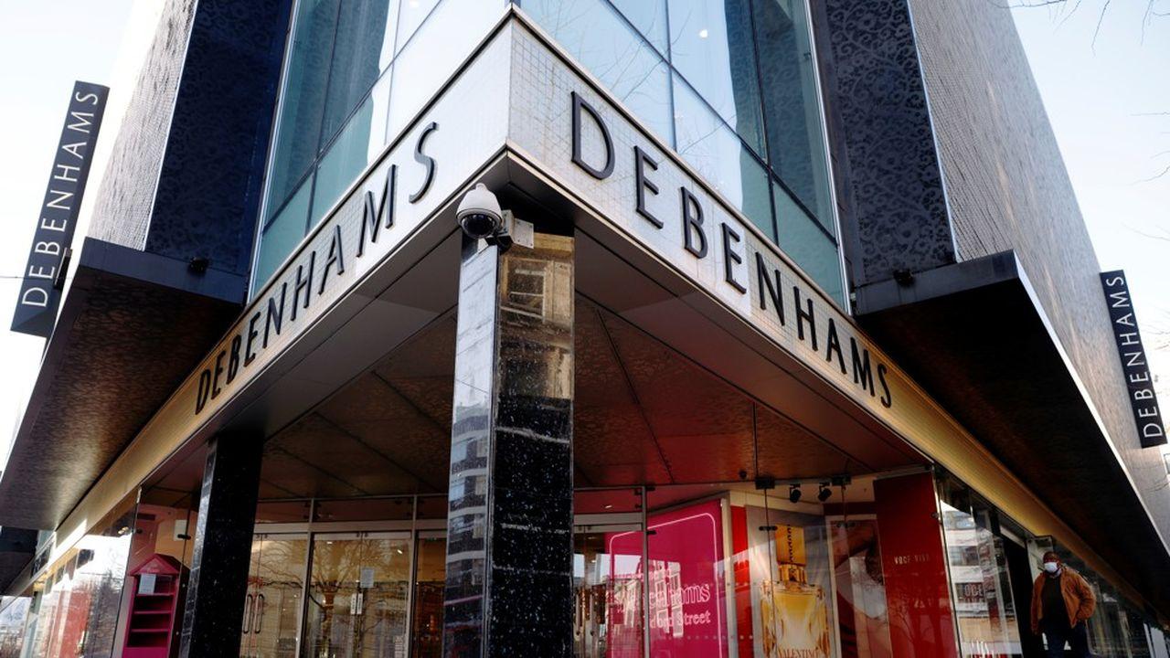Le magasin porte-étendard du groupe Debenhams, à Londres sur Oxford Street.