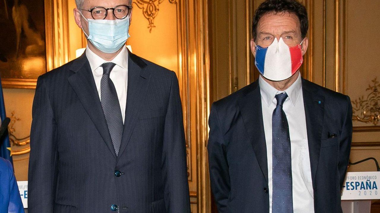 Bruno Le Maire, le ministre de l'Economie, et Geoffroy Roux de Bézieux, le président du Medef, ne veulent pas revivre le débat de novembre autour des commerces dits non essentiels.