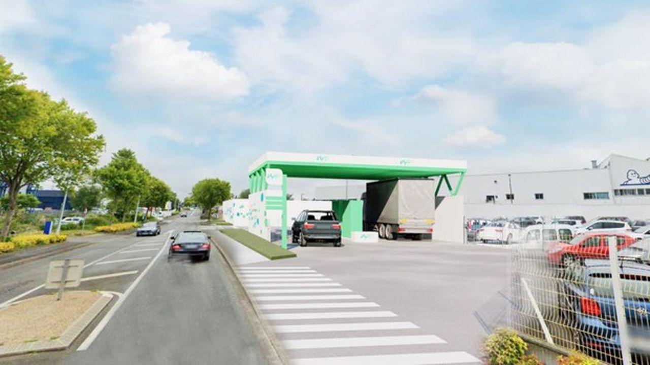 Une station hydrogène chez Michelin à Vannes