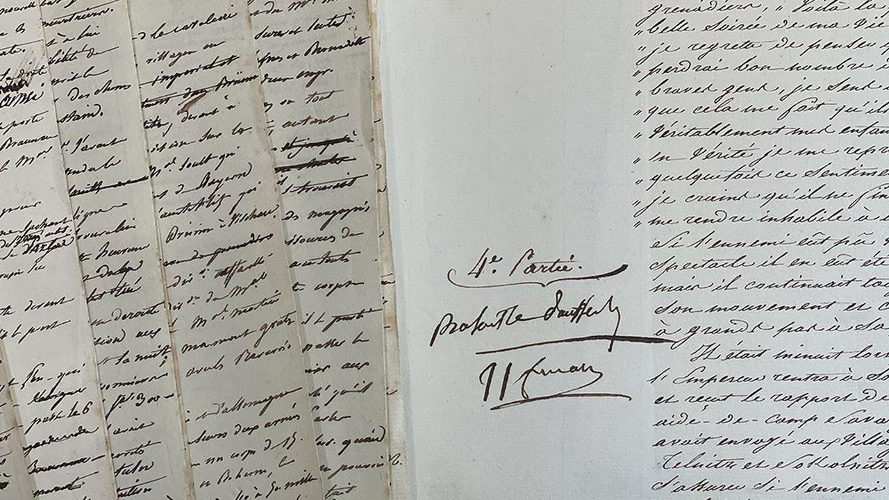Le manuscrit original de la bataille d'Austerlitz annoté par Napoléon Ier, une pièce exceptionnelle valorisée 1 million d'euros.