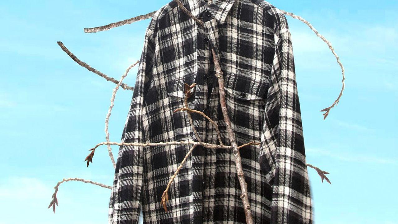La chemise à carreaux de Celine par Hedi Slimane.
