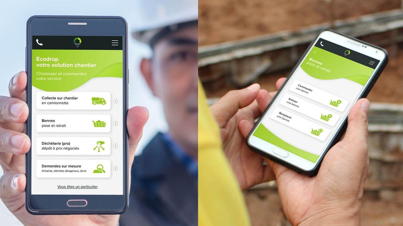 Avec sa solution de prise en charge des déchets de chantier, Ecodrop veut accélérer la part de recyclé qui n'est que de 42% aujourd'hui.