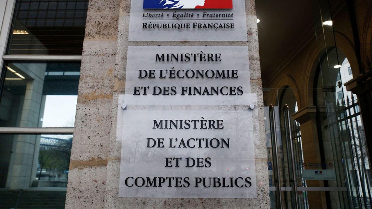 Une entrée du ministère de l'Economie et des Finances.