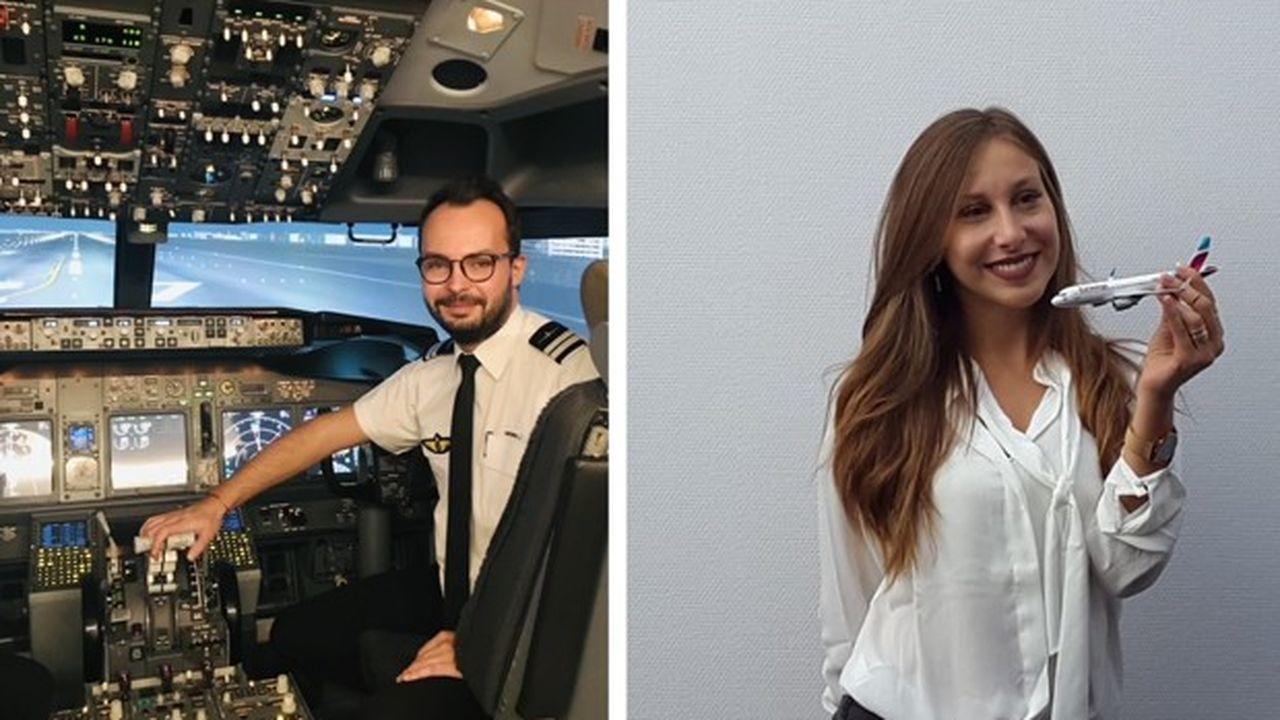 Arthur (à gauche) est diplômé et cherche à rentrer sur le marché du travail. Elise (à droite) reprend sa formation en mars.
