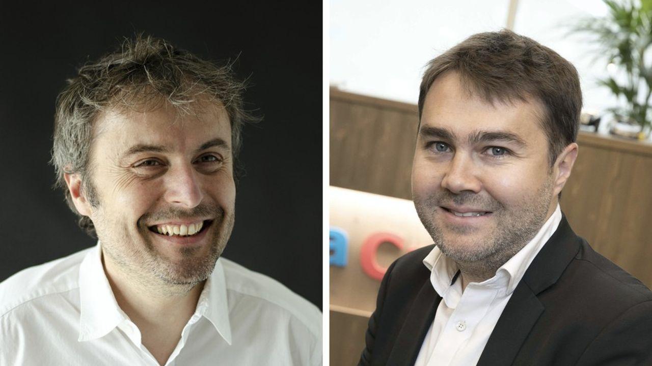 Alexandre Boucherot, co-fondateur d'Ulule et Frédéric Mazzella, le président-fondateur de BlaBlaCar.