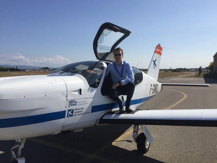 David Robert lorsqu'il était en formation à l'Ecole nationale de l'aviation civile (Enac).