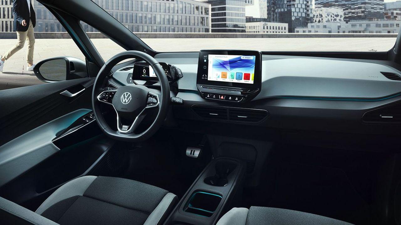L'ID.3 électrique de Volkswagen est le premier modèle du groupe allemand à intégrer un système d'exploitation central, conçu en interne.