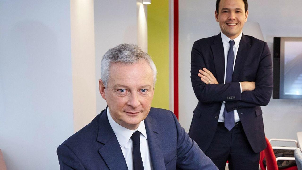 Dans une interview exclusive aux «Echos», Bruno Le Maire et Cédric O assurent vouloir accompagner les start-up françaises prometteuses afin qu'elles deviennent des poids lourds dans le monde.