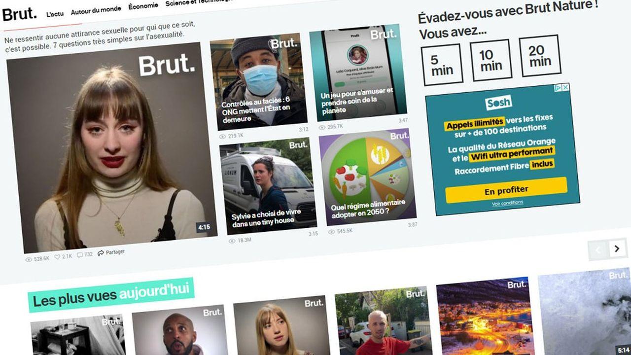 Brut a généré 20milliards de vidéos vues en 2020.