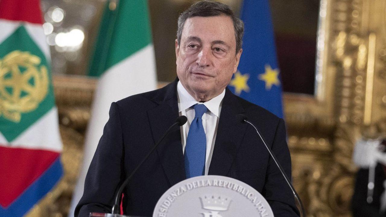 Mario Draghi, durante la conferenza stampa del 3 febbraio 2021