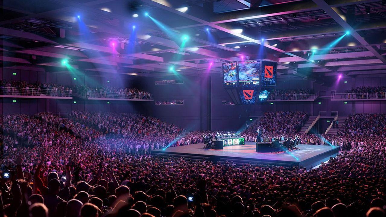 Ce «royaume des gamers» de 30.000 mètres carrés regroupera une Arena de 2.500 places pouvant accueillir des compétitions en réseauAgence Rogers Stirk Harbour +Partners