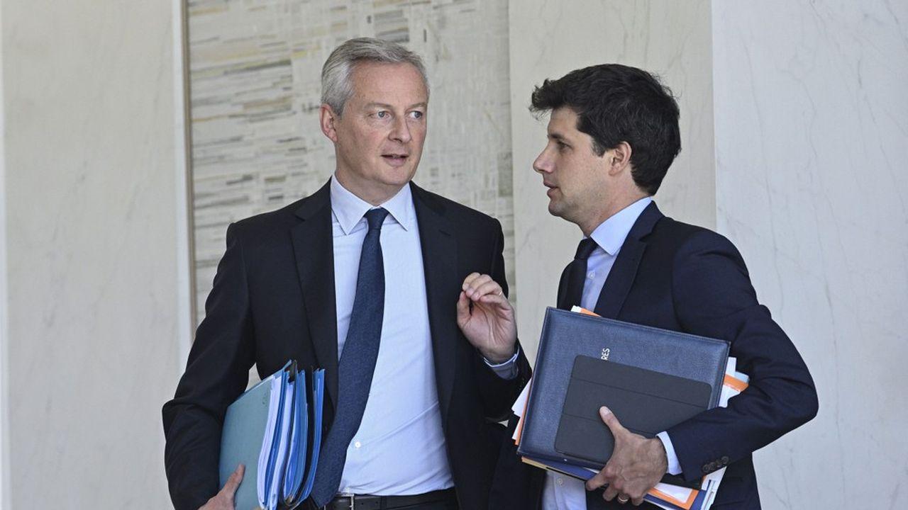 Les ministres Bruno Le Maire et Julien Denormandie défendent deux visions opposées sur le chèque alimentaire.