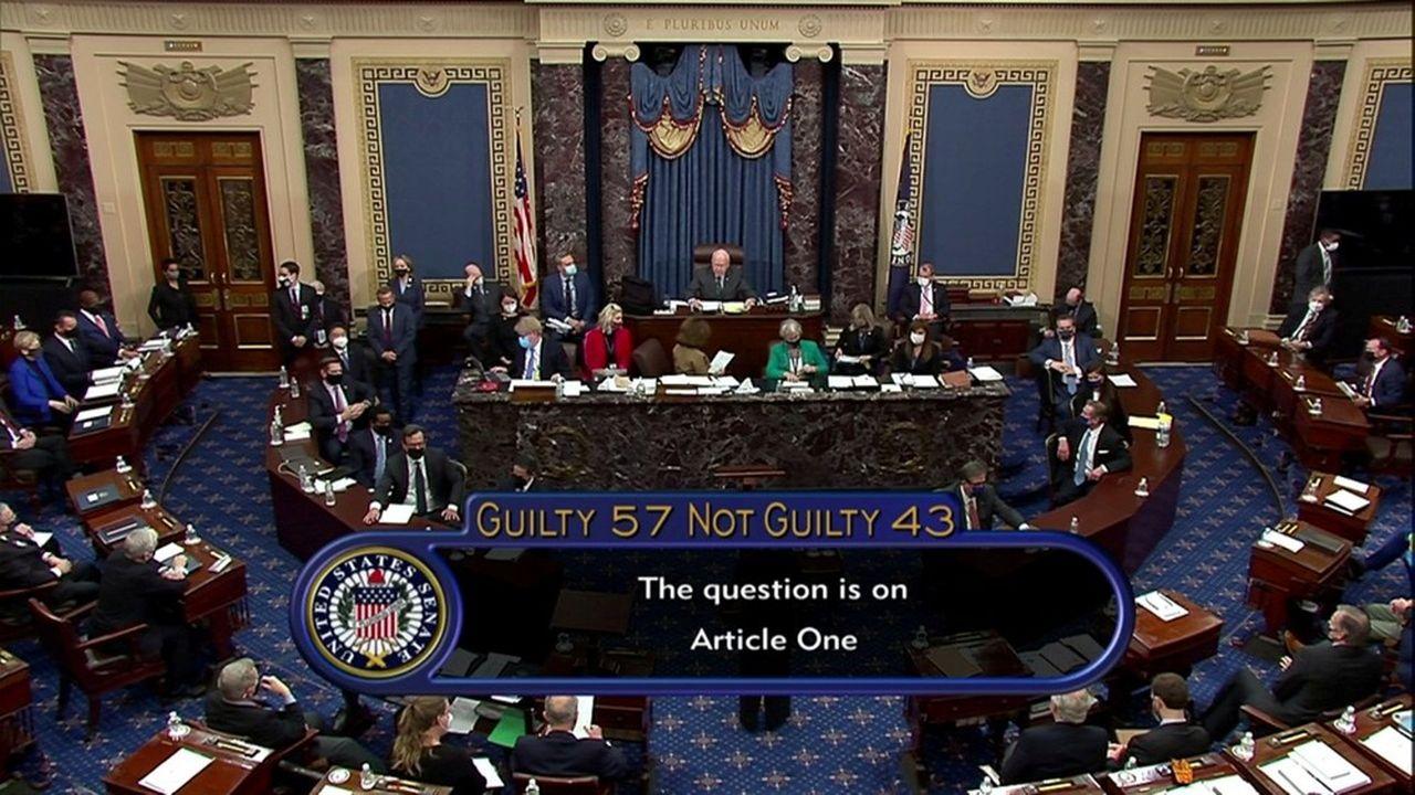 Le Sénat américain a acquitté Donald Trump: seuls 57 sénateurs l'ont reconnu coupable d'incitation à l'insurrection.